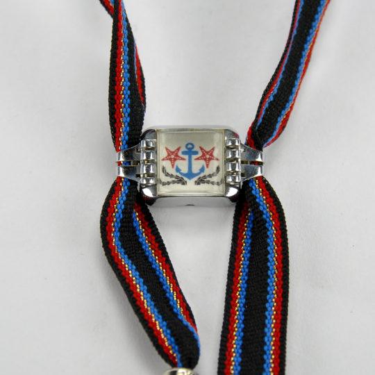Emilie bracelet ancre bleue et astéries rouges 1