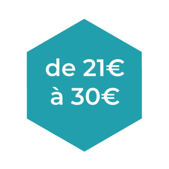 De 21 à 30€