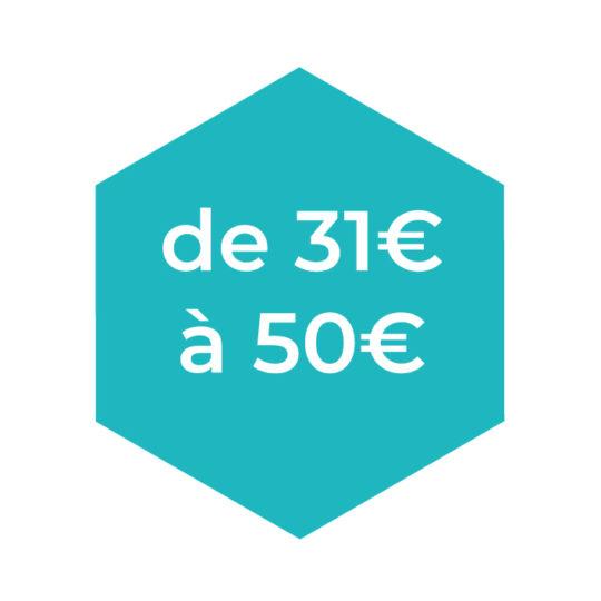 De 31 à 50€